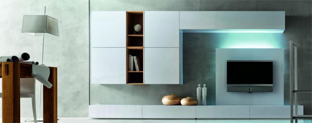 Soggiorno moderno essenza legno e laccato blog outlet for Foto living moderni