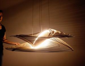 Lampada in legno 100% made in Italy di UnSolid