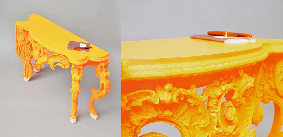 Consolle design classico moderno realizzata con stampa 3D