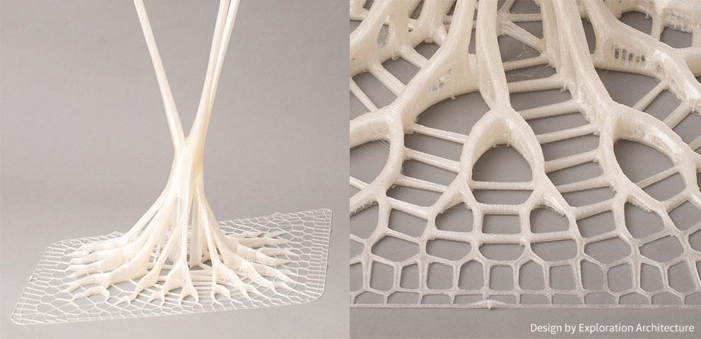 Tavolino design moderno realizzato con stampa 3D