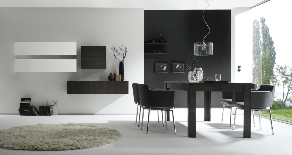 soggiorni moderni di tendenza le nuove pareti attrezzate. Black Bedroom Furniture Sets. Home Design Ideas