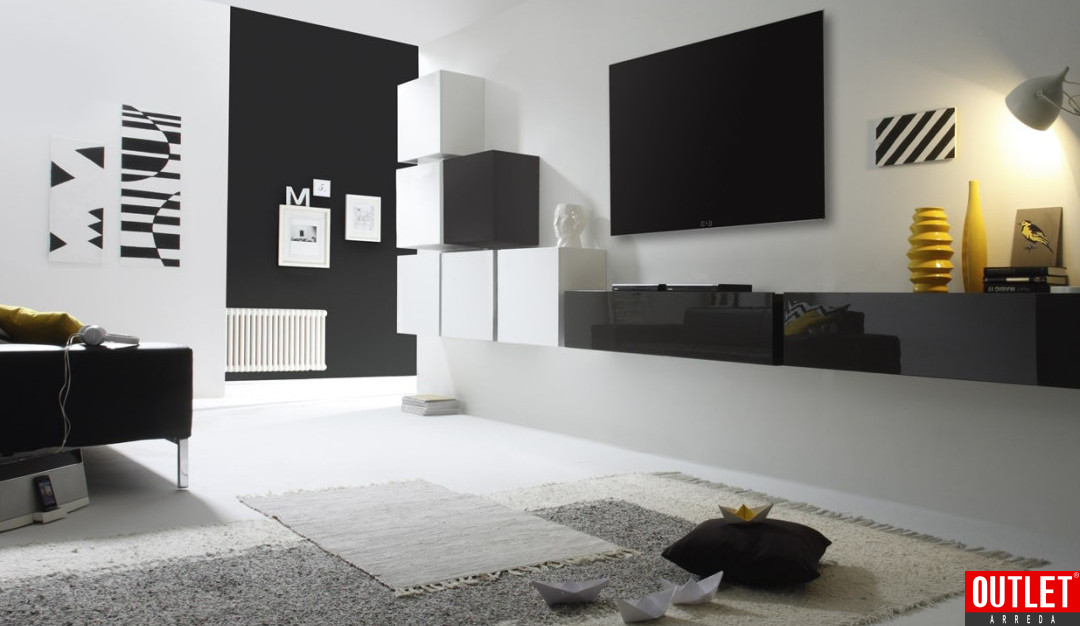 Soggiorni moderni di tendenza le nuove pareti attrezzate blog outlet arreda arredamento e casa - Pareti attrezzate design ...