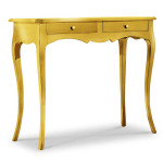 Consolle in legno classica Foglia Oro