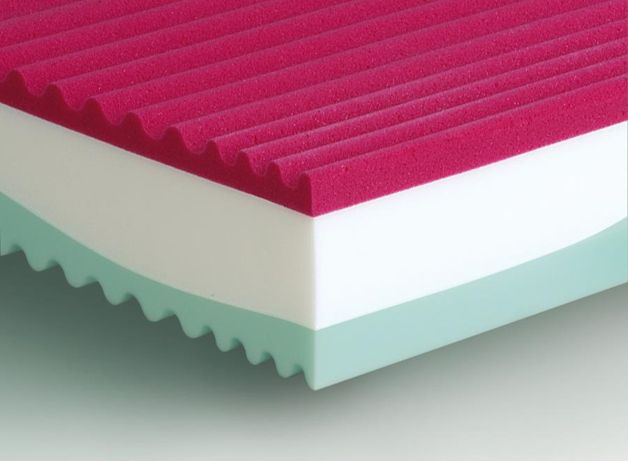 Massello materasso massaggiante in memoryfoam e waterfoam