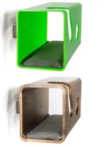 Cuccia per gatti dal design moderno, in legno o plexiglass