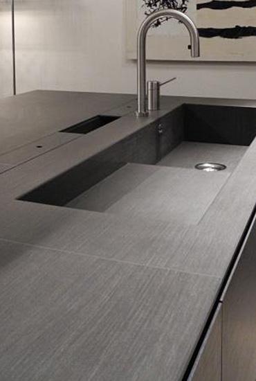 Top cucina in gres con vasca integrata blog outlet - Top cucina gres ...