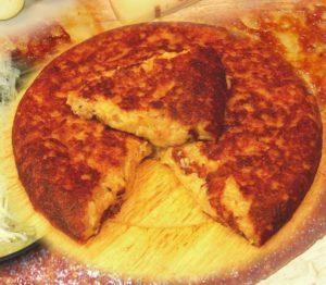Frico friulano con patate, montasio e cipolla