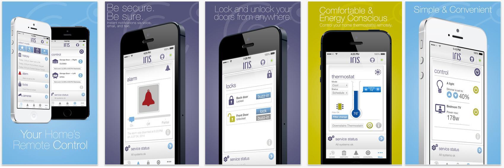 Iris ti permette di rilassarti e controllare ogni aspetto della casa comodamente da smartphone