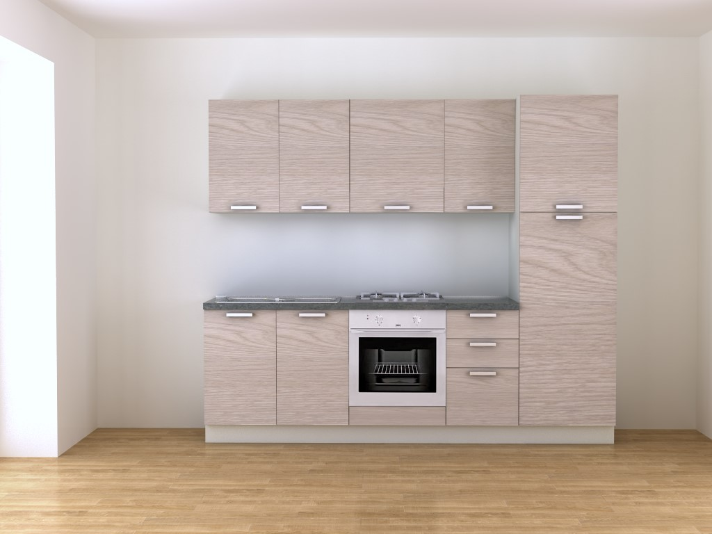 Cucina compoonibile 250 cm olmo acquisto online - Blog Outlet Arreda ...
