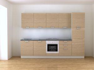 Cucina componibile 3 metri rovere vendita online