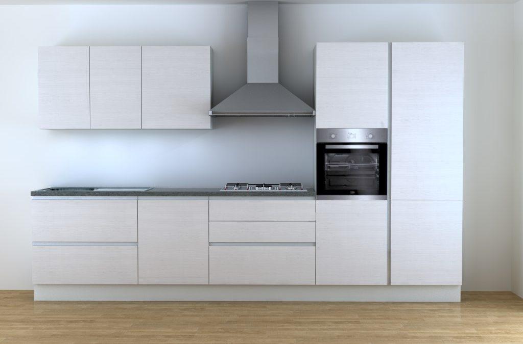 Cucina bianca 3 metri senza maniglie vendita online