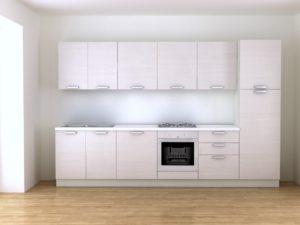 Cucina bianca 3,30 metri effetto legno in vendita online
