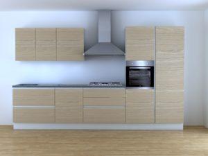 Cucina 3,60 m lineare componibile rovere